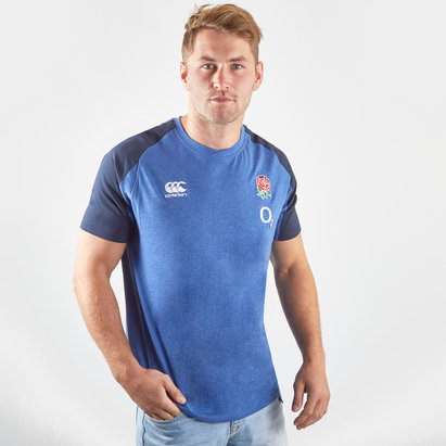 Canterbury England 2019/20 Players Cotton Rugby Training T-Shirt
