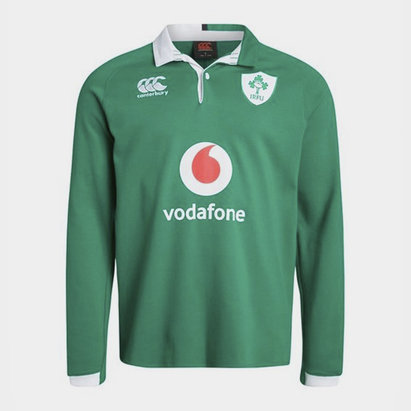 Canterbury Ireland Home Long Sleeve Classic Shirt 2019 2020