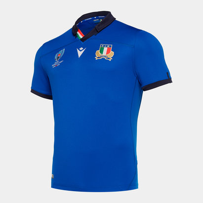 Macron Italy RWC 2019 Home Kids S/S Replica Shirt