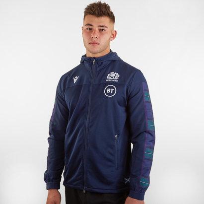 Macron Scotland 2019/20 Players Anthem Hooded Rugby Jacket