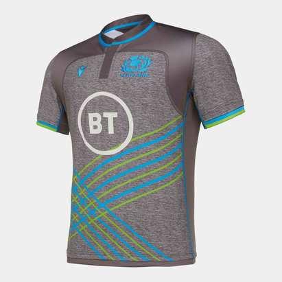 Macron Scotland 2019/20 Players S/S Rugby Training Shirt