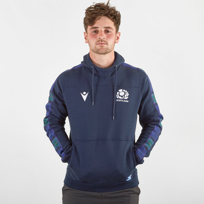 Macron Scotland 2019/20 Players Travel Hooded Rugby Sweat