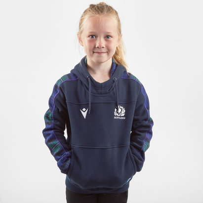 Macron Scotland 2019/20 Kids Travel Hooded Rugby Sweat