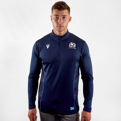 Macron Scotland 2019/20 Players 1/4 Zip Rugby Jacket