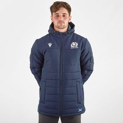 Macron Scotland 2019/20 Players Long Padded Rugby Jacket
