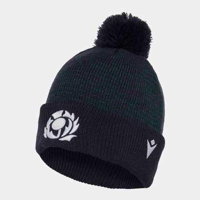 Macron Scotland 2019/20 Pom Pom Rugby Beanie Hat