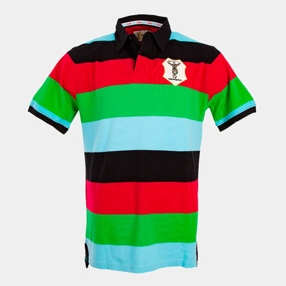 Harlequins 2018/19 Striped Hooped Rugby Polo Shirt