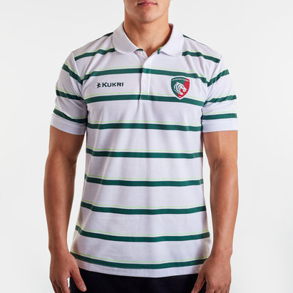 Kukri Leicester Tigers 2019/20 Yarn Dye Rugby Polo Shirt