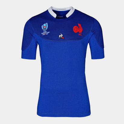 Le Coq Sportif France RWC 2019 Home Authentic Test S/S Rugby Shirt