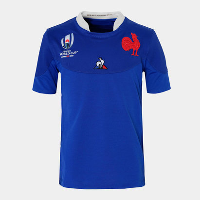 Le Coq Sportif France RWC 2019 Kids Home S/S Rugby Shirt
