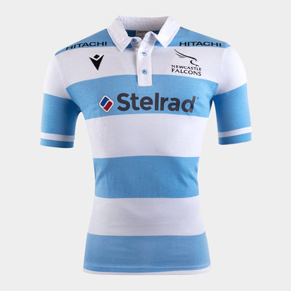 Macron Newcastle Falcons 2019/20 Alternate S/S Cotton Rugby Shirt