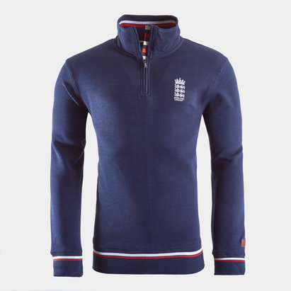 England Cricket 1/4 Zip Jumper