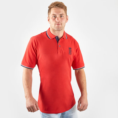 England Cricket Pique Polo Shirt