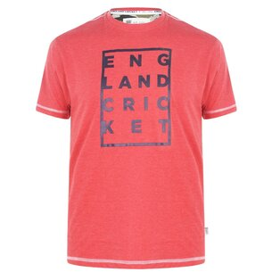 England Cricket Cricket Box Graphic Replica T Shirt Mens