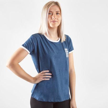 England Cricket Crest T Shirt Ladies