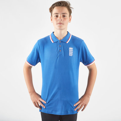 England Cricket Kids Pique Polo Shirt