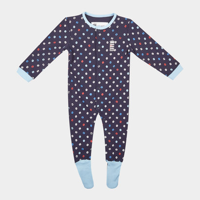 England Cricket Cricket Sleepsuit Infants
