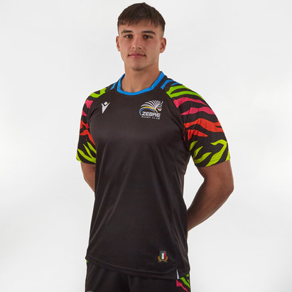 Macron Zebre 2019/20 Players S/S Rugby Training Shirt