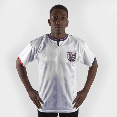Score Draw England 88/89 Home Retro Football Shirt