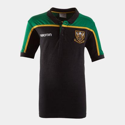Macron Northampton Saints 2018/19 Kids Travel Rugby Polo Shirt