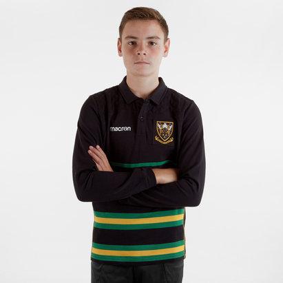 Macron Northampton Saints 2018/19 Kids L/S Heavy Cotton Rugby Shirt