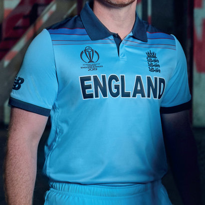 New Balance England Cricket ODI 2019 World Cup Winners Shirt Junior