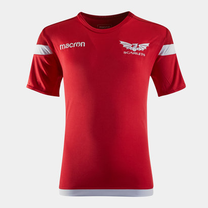 Macron Scarlets 2019/20 Kids S/S Rugby Training Shirt
