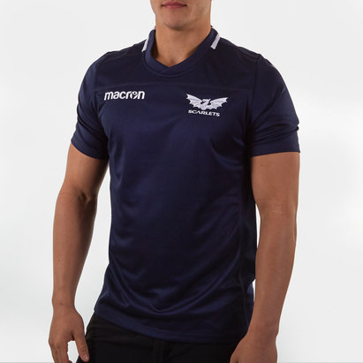 Macron Scarlets 2019/20 Players S/S Rugby Training Shirt