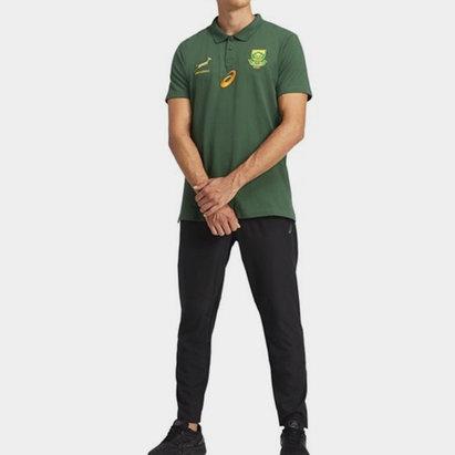 Asics South Africa Springboks 2021 Media Polo Shirt Mens
