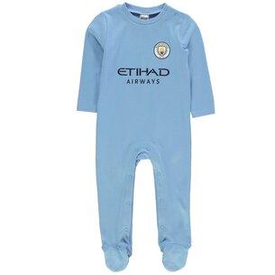 Manchester City Football Sleepsuit Baby Boys