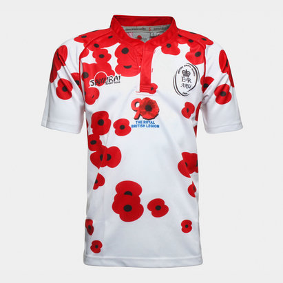 Samurai Army Rugby Union Poppy Appeal S/S Rugby Shirt