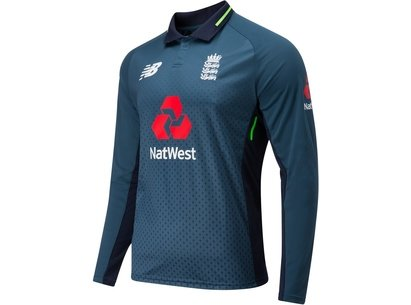 New Balance 2018/19 England Cricket ODI Long Sleeve Replica Shirt