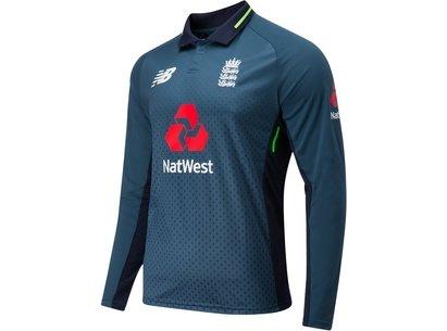 2018/19 England Cricket ODI Long Sleeve Replica Shirt