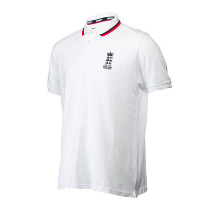 England Cricket Men's 2 Tone Polo Shirt