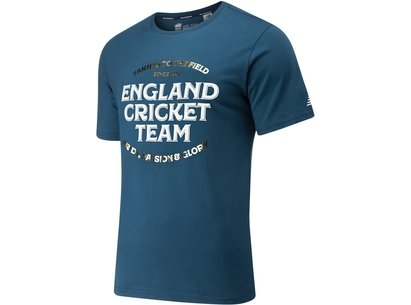 New Balance England Cricket Graphic T Shirt Mens
