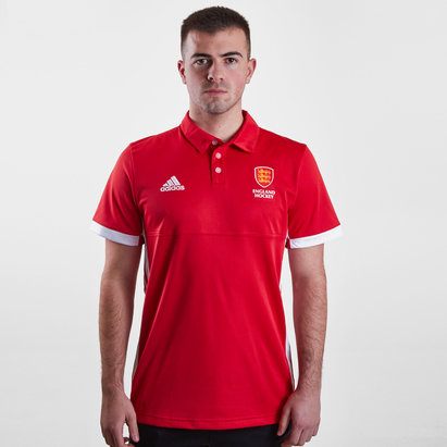 adidas England Hockey World Cup Men's Supporters Polo