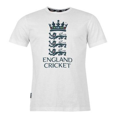 England Cricket Classic Large Logo White T-Shirt