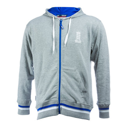 England Cricket Mens Full Zip Hoodie