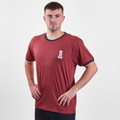 England Cricket Mens Logo Pocket T-Shirt