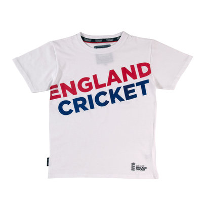 England Cricket Cricket Graphic Crew Neck T Shirt Boys