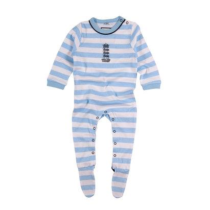 England Cricket Infants Striped Sleep Suit