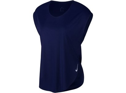 Nike City Sleek Short Sleeve Running Top Ladies