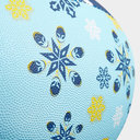 Worcester Warriors Christmas Snowflakes Rugby Ball