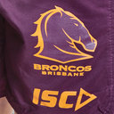 Brisbane Broncos NRL 2019 Kids Rugby Training Shorts
