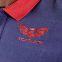 Scarlets 2019/20 Travel Pique Rugby Polo Shirt