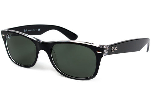 Ray-Ban 2132 New Wayfarer Black on Transparent Sunglasses