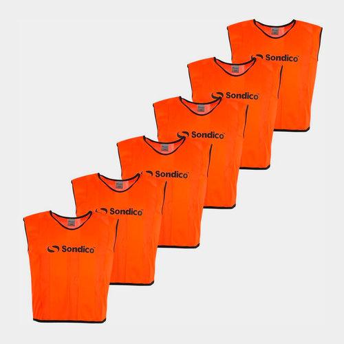 6 Pack Mesh Hi Viz Training Bibs