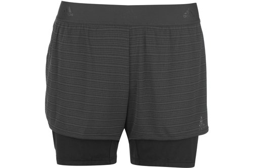 242fc137 adidas 2 in 1 Climachill Shorts Ladies, £32.00