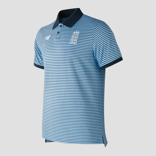 England Cricket Travel Polo Shirt Mens
