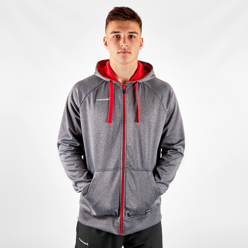 Contrast Full Zip Hooded Rugby Sweat